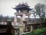 Bac Ky, Hanoi 1915 - Thien Quang Tinh and Khue Van Cac in the Temple of Literature. Photo by L...jpg