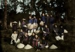 July 1930, Hue, Annam, French Indochina --- An informal group portrait of Hue schoolgirls on a...jpg