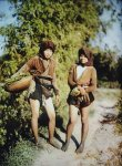 Bac Ky, Hanoi, 1914 - Two women from the outskirts of Hanoi pick up vegetables. Photo by Léon ...jpg